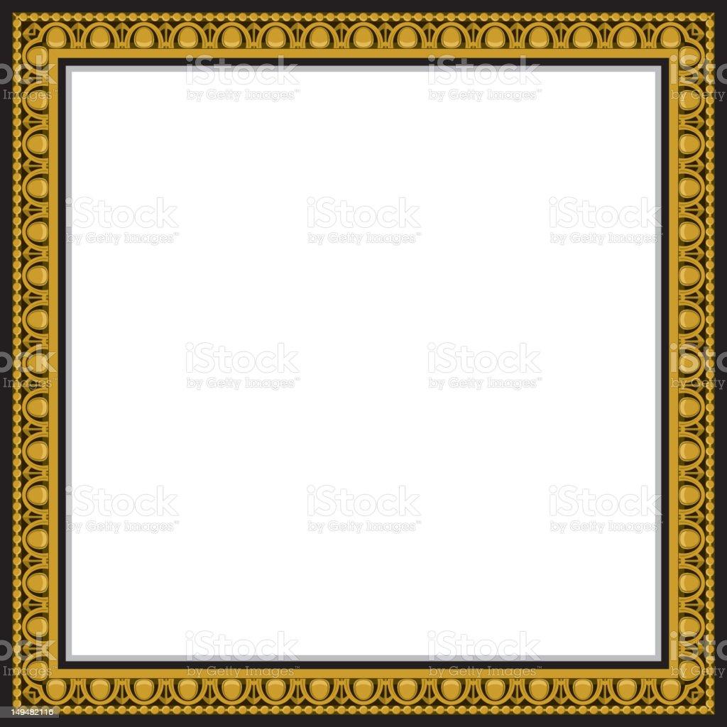 gold frame border square. Square Gold Frame Royalty-free Stock Vector Art \u0026amp;  More Images Border N