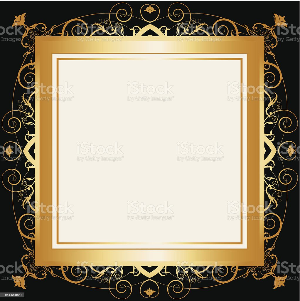 Square Gold Retro Frame Stock Vector Art & More Images of Antique ...