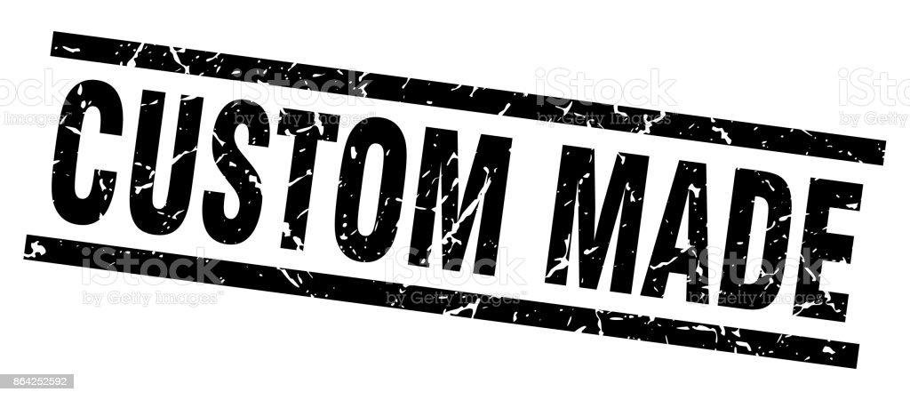 square grunge black custom made stamp royalty-free square grunge black custom made stamp stock vector art & more images of badge