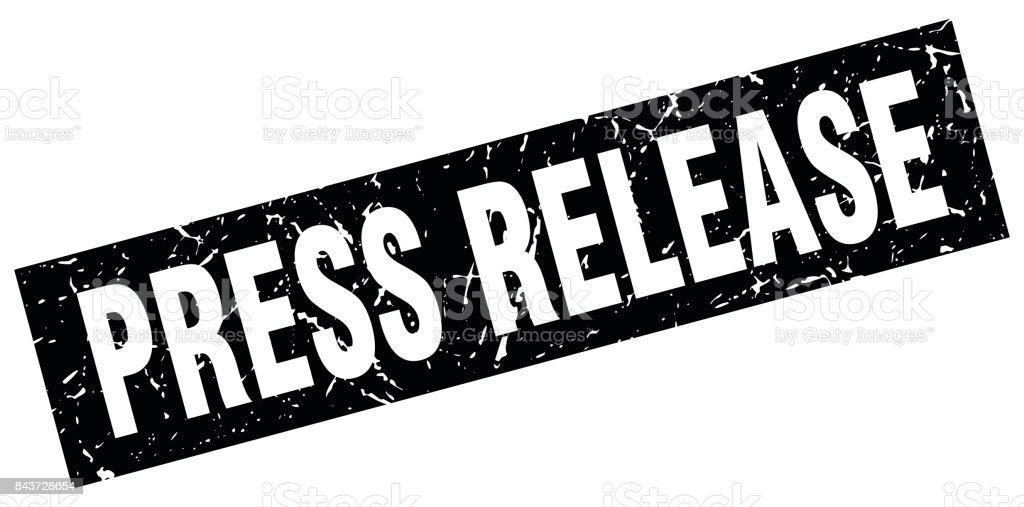 Schwarze Quadrat Grunge Pressemitteilung Stempel Stock Vektor Art ...