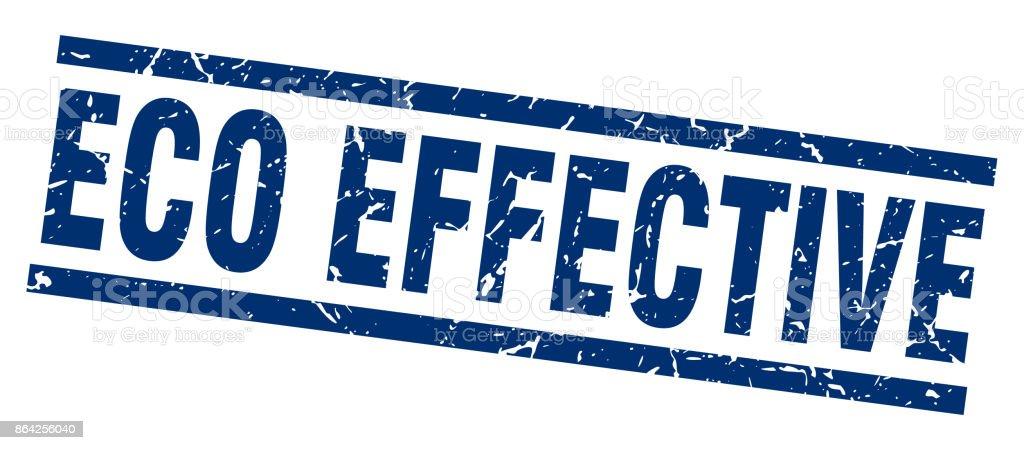 square grunge blue eco effective stamp vector art illustration