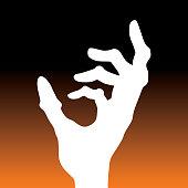 istock Square Halloween Zombie Hand icon 1269171603