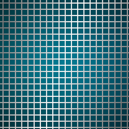 Square holes in metal surface, mesh