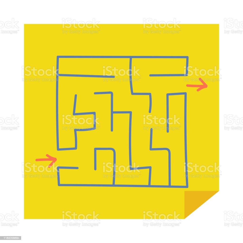 Square Maze Game For Kids Puzzle For Children Easy Level Of