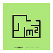Square Meter Icon