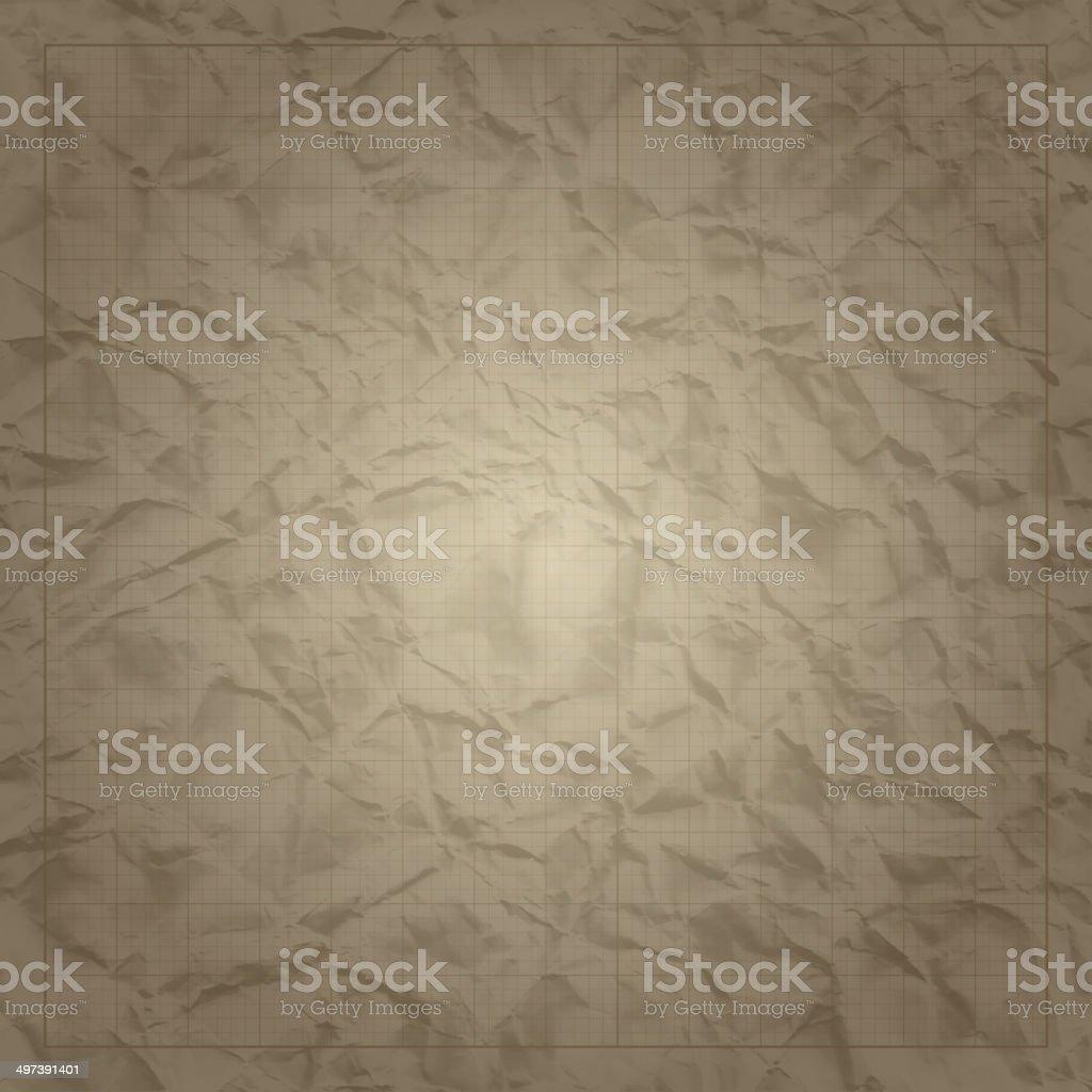 正方形グリッドミリメートル技術に古い紙の背景紙 1インチのベクター