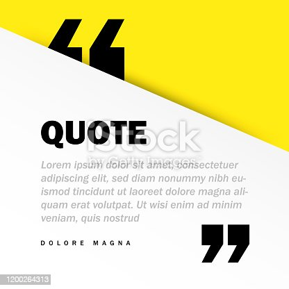 istock Square Motivation Quote Template Vector Background with Realistic Soft Shadows in Material Design. Good for Inspirational Text, Quotes etc. Horizontal Layout. 1200264313