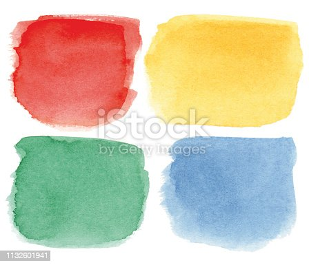istock Square multicolored watercolor spots 1132601941