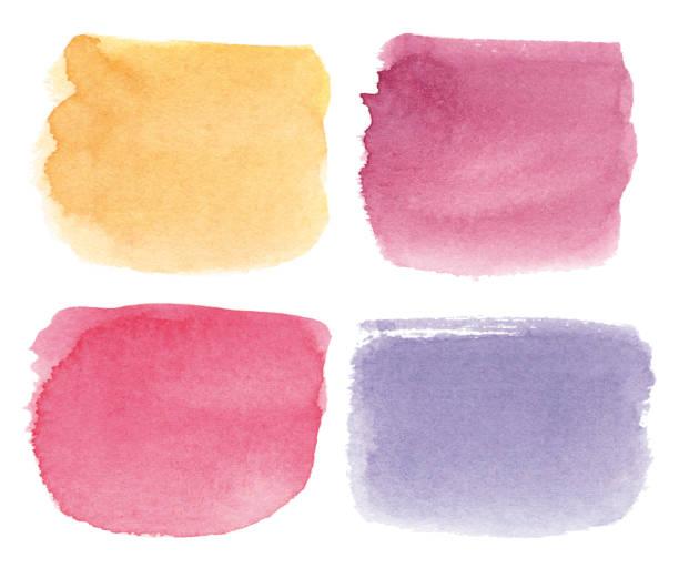 Square multicolored watercolor spots vector art illustration
