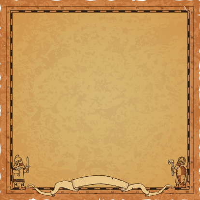 Square Norse Map Frame