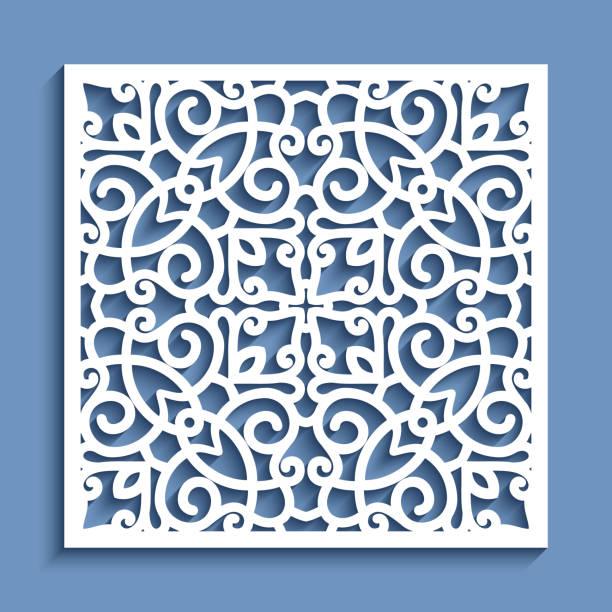 quadratische platte mit lochmuster - gehäkelte lebensmittel stock-grafiken, -clipart, -cartoons und -symbole