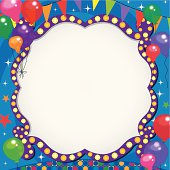 square party theme background frame