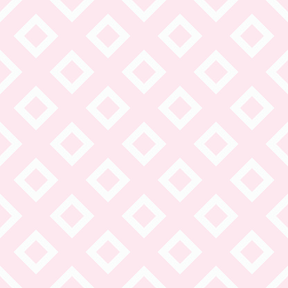 Square pattern. Vintage pink seamless simple vector background.