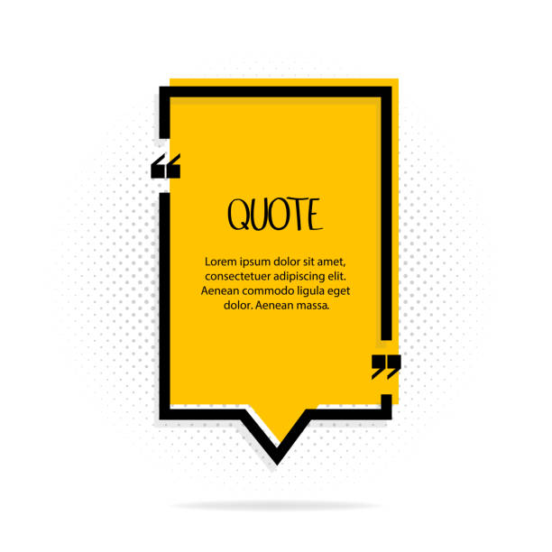 Square quote text bubble. Comas, note, message and comment. Vector illustration. Square quote text bubble. Comas, note, message and comment. Vector illustration form of communication stock illustrations