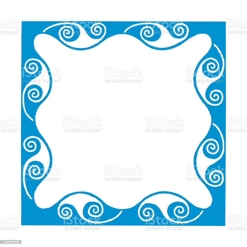 Square Scroll Border Stock Illustration - Download Image Now