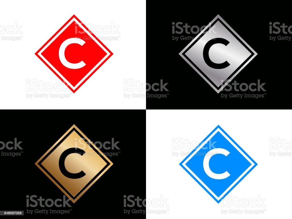038372ed0a0 C Square Shape Letter Design Stock Vector Art   More Images of ...