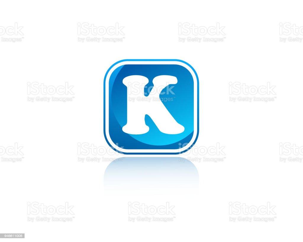 K Quadratische Form Brief Design Stock Vektor Art Und Mehr Bilder