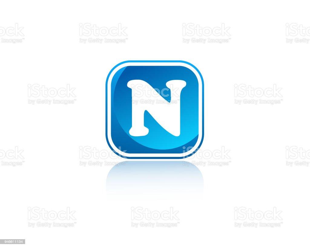 N Quadratische Form Brief Design Stock Vektor Art Und Mehr Bilder