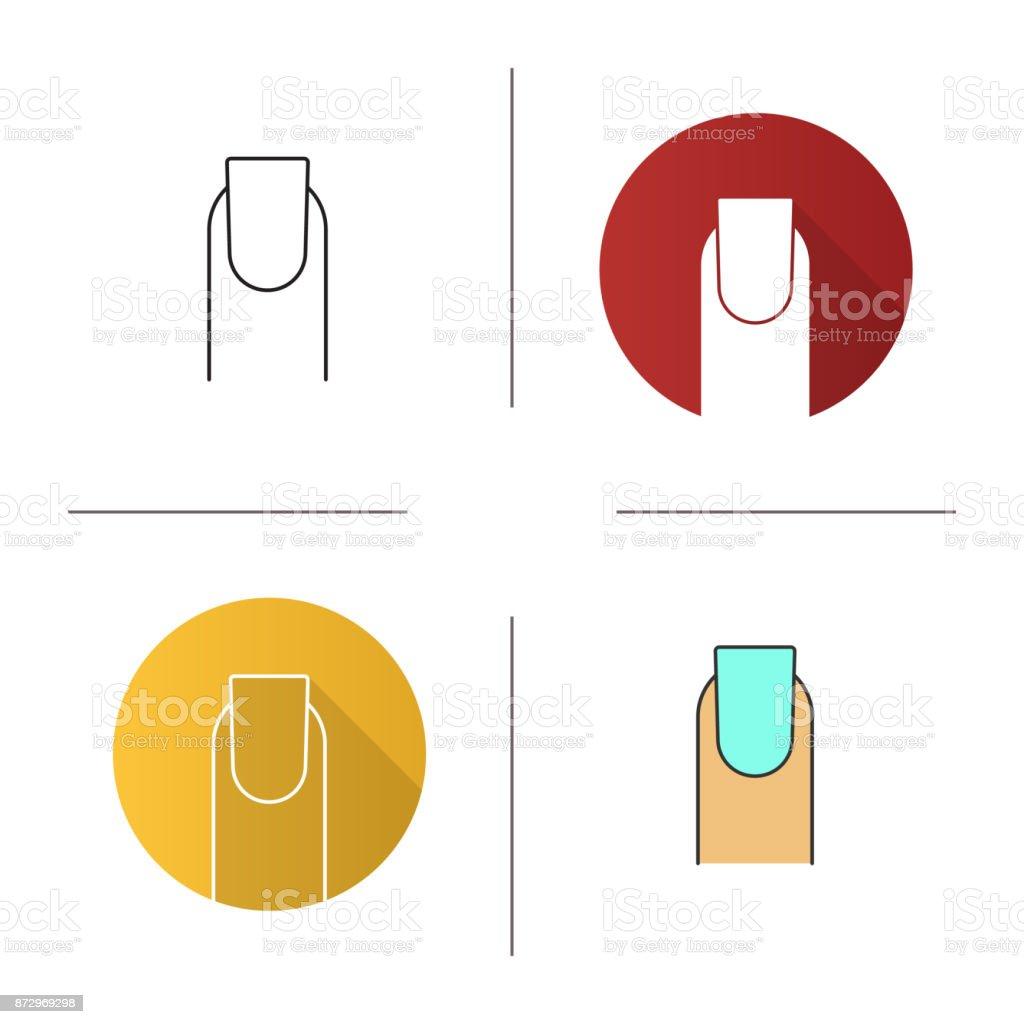 Square shaped nail icon vector art illustration