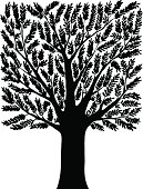 Square Shaped Tree Silhouette