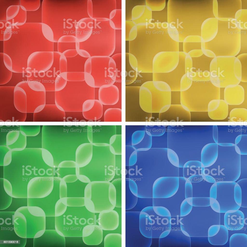Quadratische Formen Auf Vier Farben Hintergründe Stock Vektor Art ...