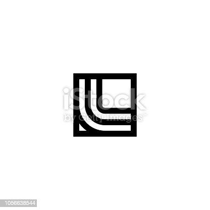 Line Vector Logo Letter L. L Letter Design Vector Lines