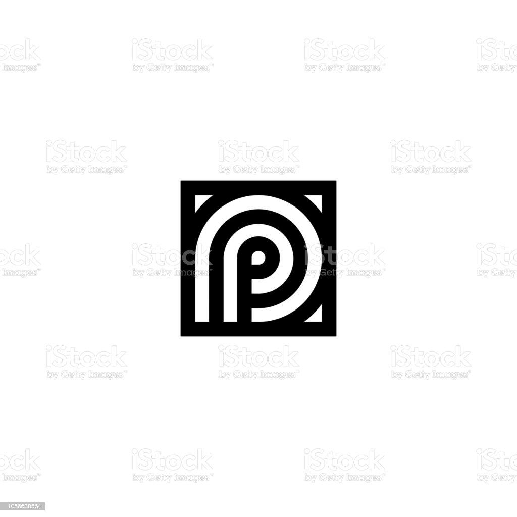 Rayures Carrés Vector Logo Lettre P – Cliparts vectoriels et plus d ...