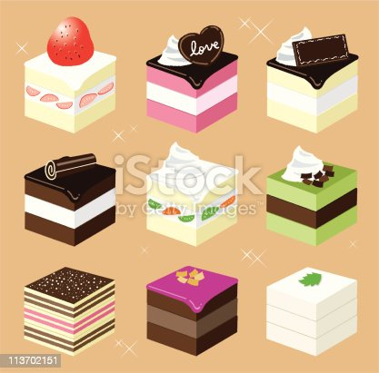 istock Square sweets 113702151