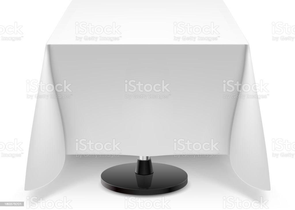 Tavolo quadrato con tovaglia bianca immagini vettoriali - Tovaglia tavolo quadrato ...