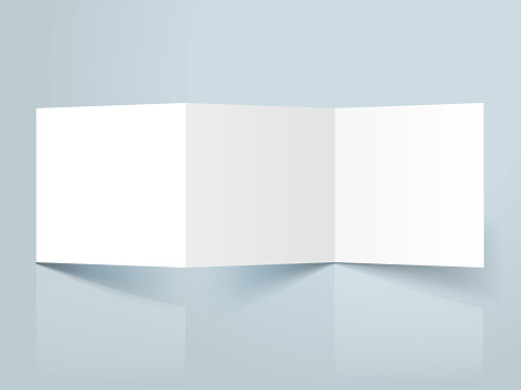 square threefold template