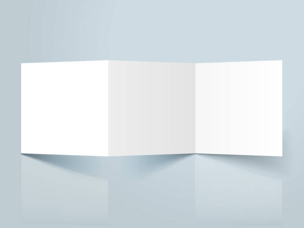 square threefold template blank threefold brochure template mockup greeting cards templates stock illustrations