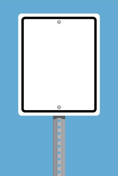 Square Traffic Sign vector art illustration