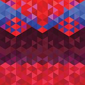 Square triangle geometric neon tribal background - Pink, Blue, Turquoise colored.