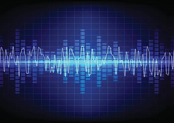 square  vector sound waves technology background. illustration v - schütteln stock-grafiken, -clipart, -cartoons und -symbole