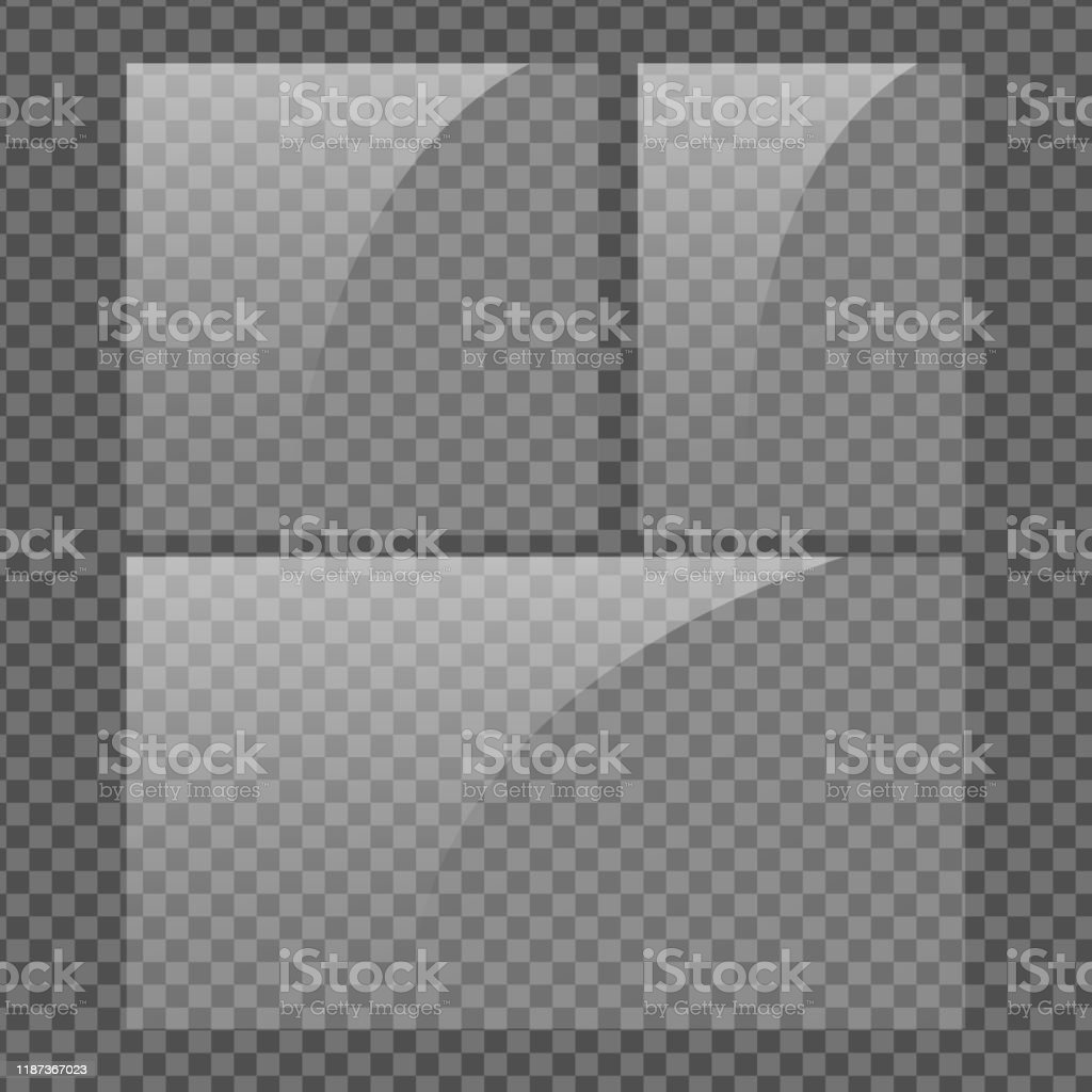 Square Vertical And 16x9 Panel Glass Plate Set On
