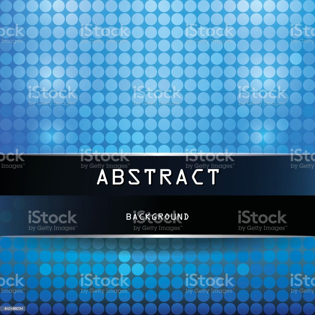 Square Vibrant Abstract Background With Circles Azure Blue