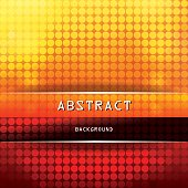 Square Vibrant Abstract Background with Circles - Yellow, Orange, Red, Brown, Black.