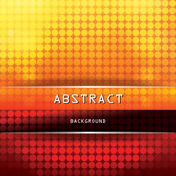 Square Vibrant Abstract Background with Circles - Yellow, Orange, Red, Brown, Black vector art illustration