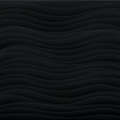 Square Wavy abstract background - Black.