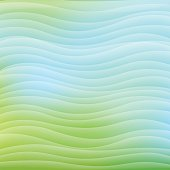 Square Wavy abstract background - Bright Green Color, Azure.