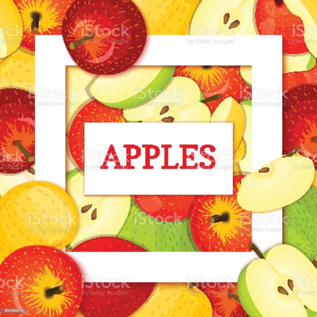 Quadratische Weiße Rahmen Und Rechtecklabel Auf Apple Hintergrund ...