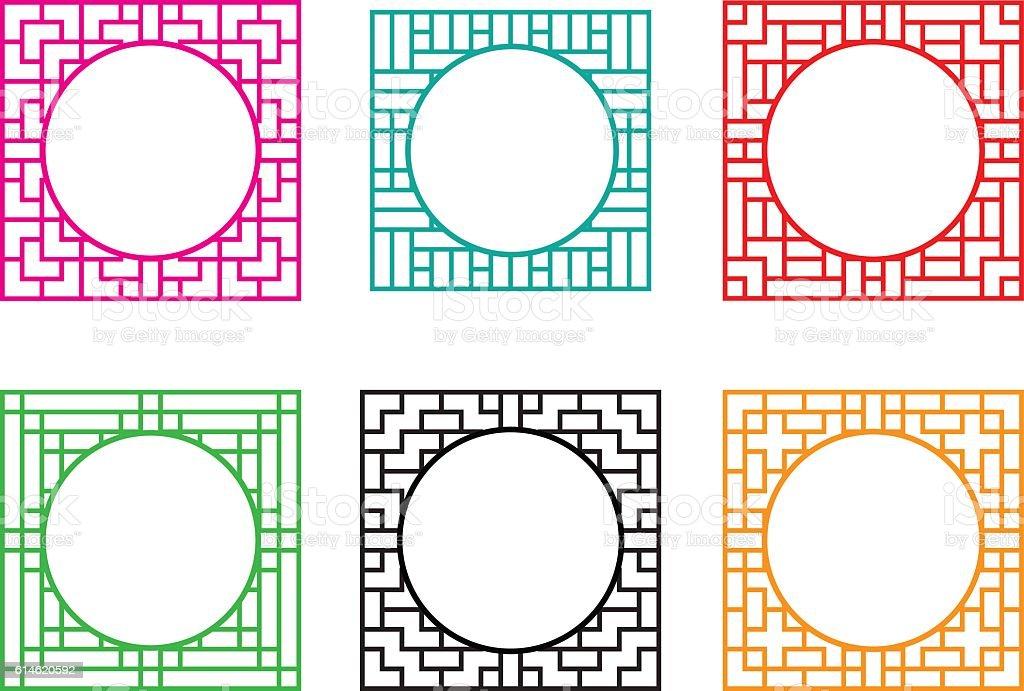 Square Window Frame With Circle Hole At Center Stock Vector Art ...