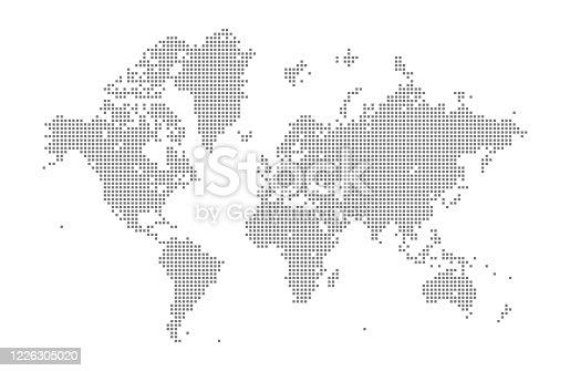 istock Square World Map 1226305020