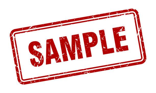 illustrazioni stock, clip art, cartoni animati e icone di tendenza di square09stampsred - campione scientifico