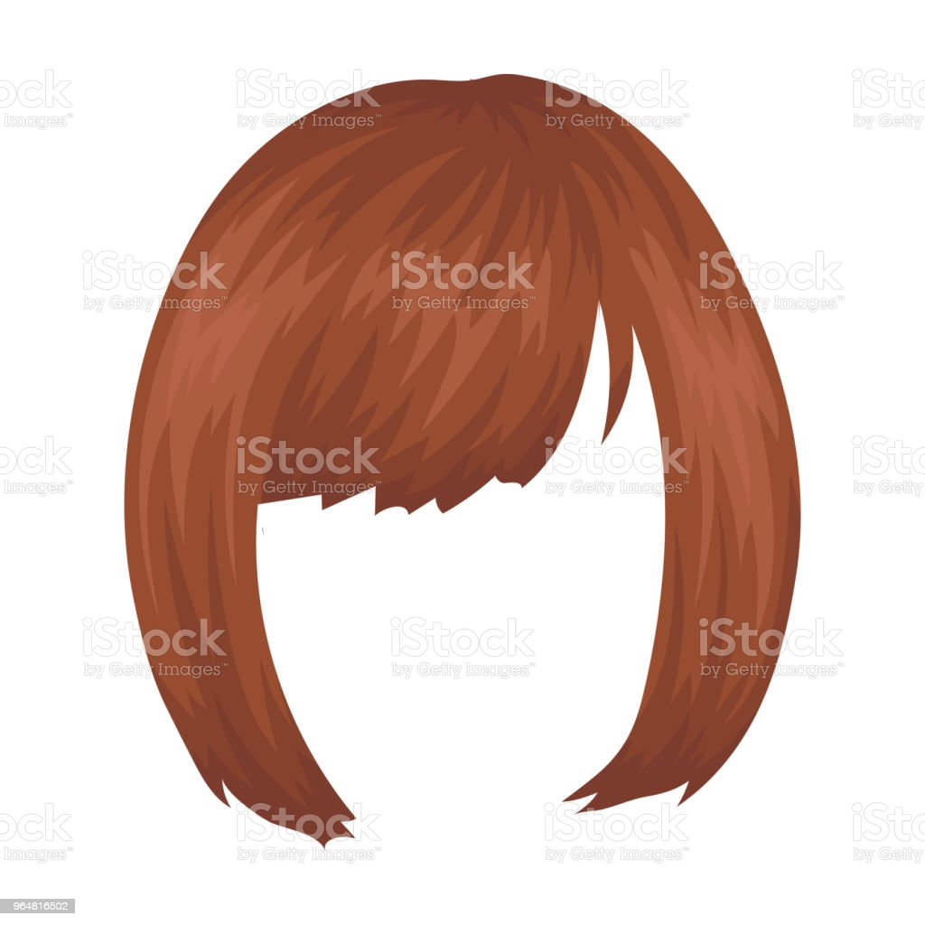Square.Back hairstyle single icon in cartoon style vector symbol stock illustration web. royalty-free squareback hairstyle single icon in cartoon style vector symbol stock illustration web stock vector art & more images of bangs