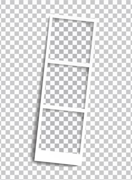 Squared photo template in row rotated, isolated on transparent background. Instant photo trame for social net, documents, fun. Vector editable illustration. Squared photo template in row rotated, isolated on transparent background. Instant photo trame for social net, documents, fun. Vector editable illustration. polaroid frame stock illustrations