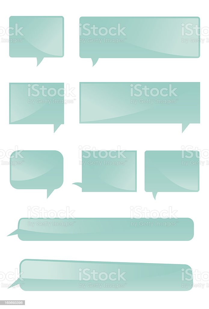 Squared/round corners speech bubble royalty-free stock vector art