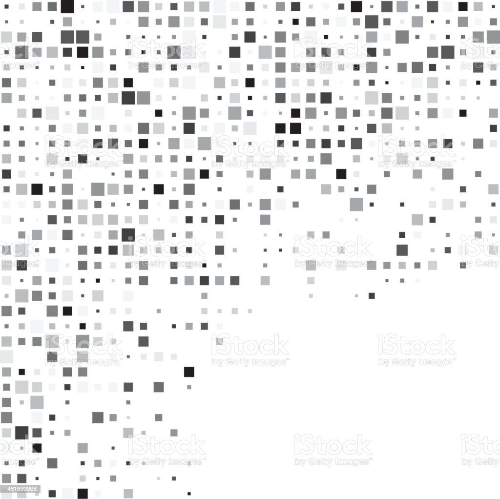 Squares grey technology pattern vector art illustration