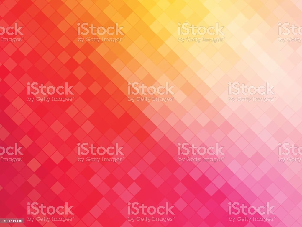 squares mosaic pink yellow background vector art illustration