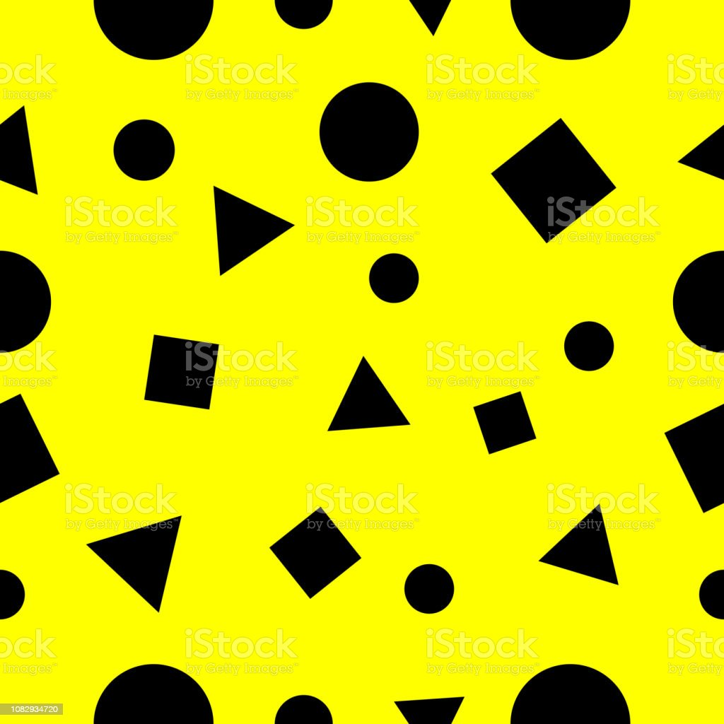 Squares Triangle And Circles Geometry Pattern Seamless Abstract